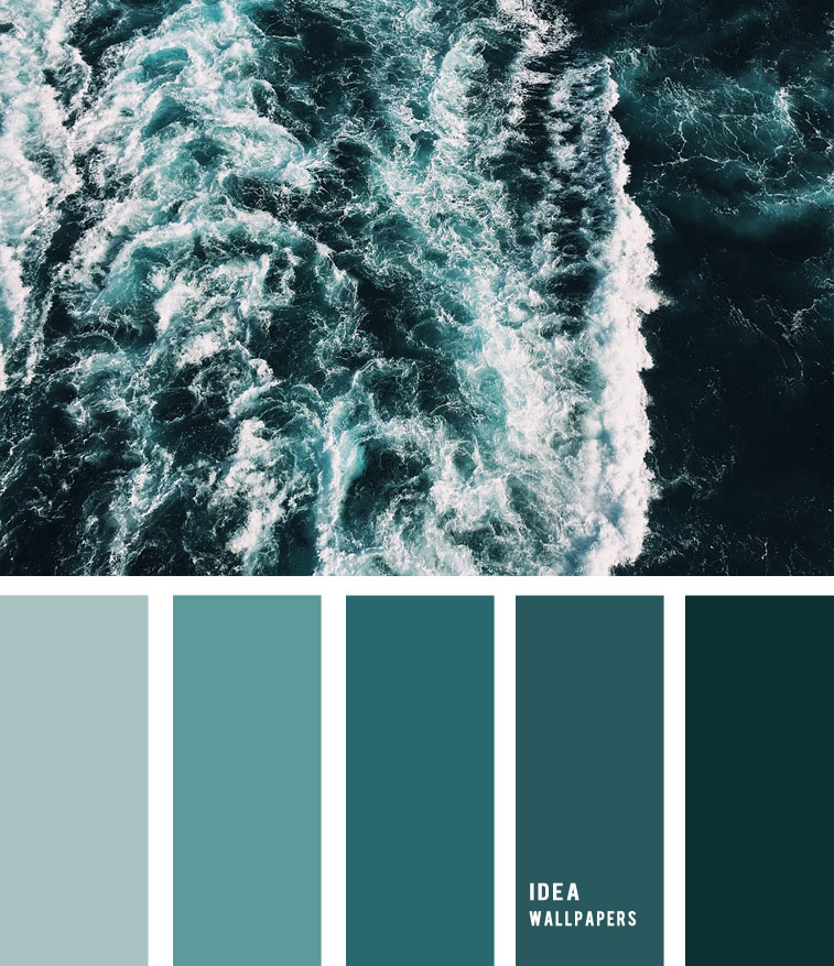Deep Emerald Green Ocean Inspired color palette, ocean inspired color palette, color palette , Deep Emerald Green Ocean Inspired color palette #pantone #color #beach