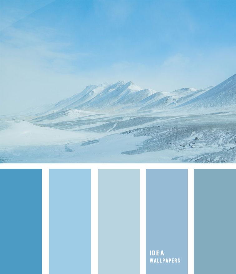 Winter color palette - Blue Color Palette, color palette , winter color palette, blue and grey , grey color palette #pantone #color