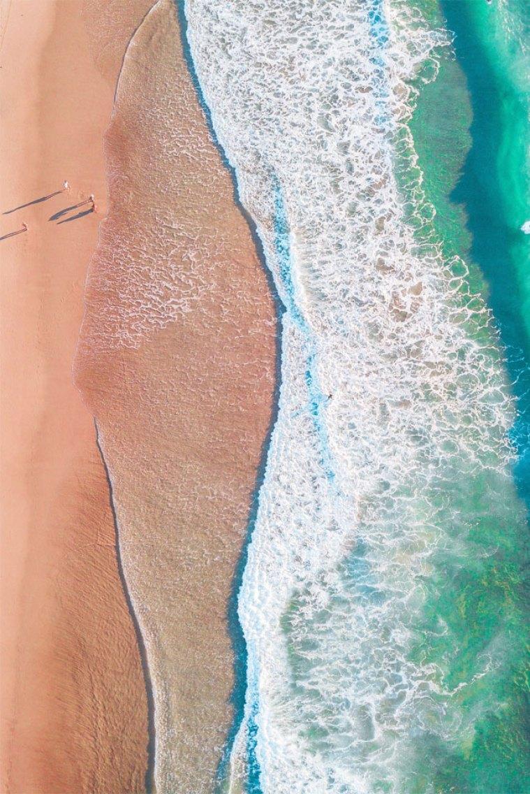 54 Beach iphone wallpaper - Peach sand Green sea beautiful beach #beach #iphonewallpaper #background