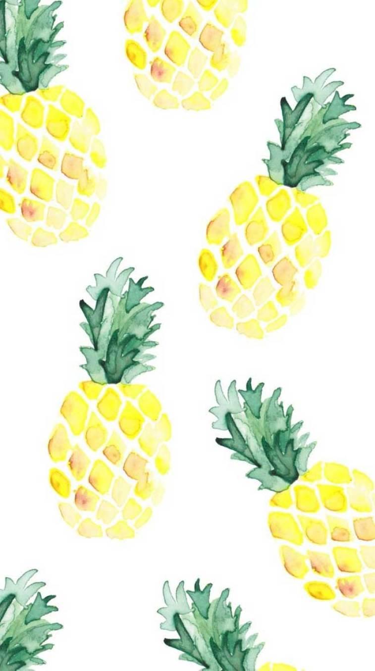 Pineapple watercolor #wallpaper