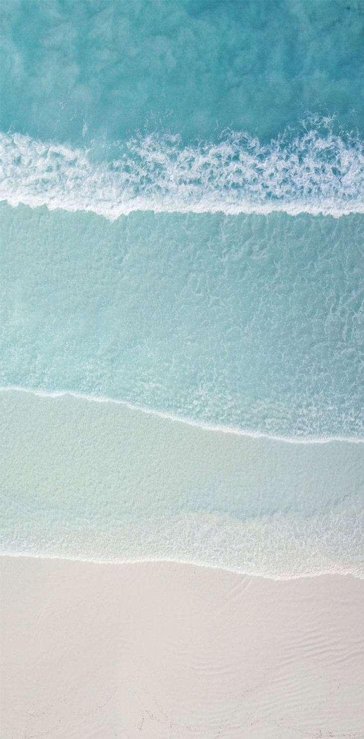 Beautiful pastel beach and sea form waves