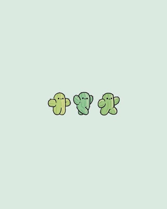 Cute Cactus Iphone Wallpaper #iphone #wallpaper