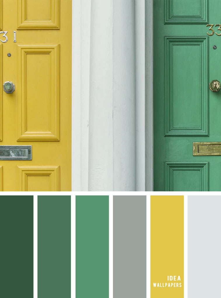 Color inspiration : Green and yellow color palette color combination #color #pantone #colorcombos #colorpalette #colors