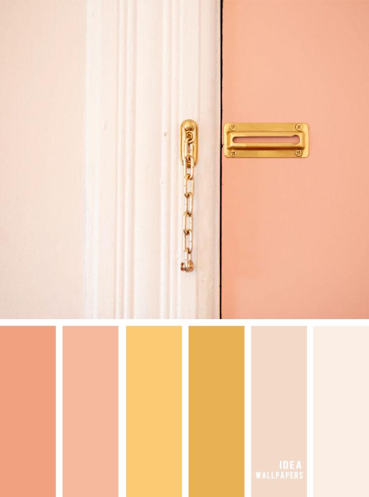 Color Inspiration : Blush + Gold & Peach Color Palette #color #colorinspiration #peach #blush #door