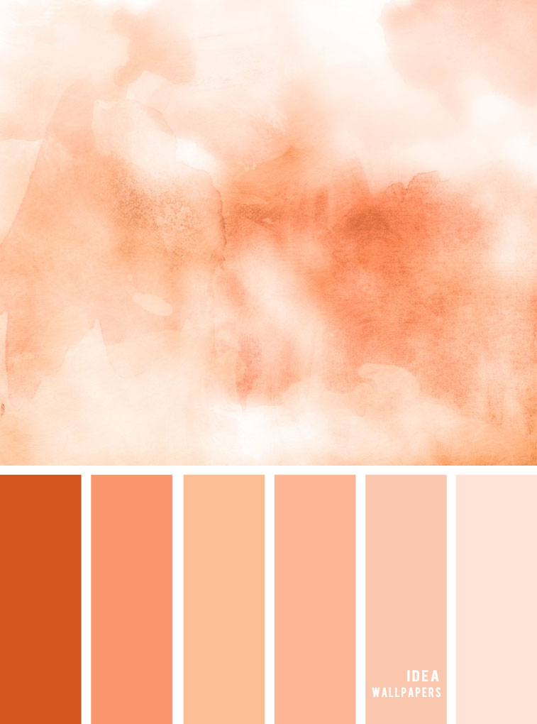 Tones of Peach Color Palette inspired by peach watercolor, Peach Tone Color, peach combination #color #colorinspiration #pantone #peach
