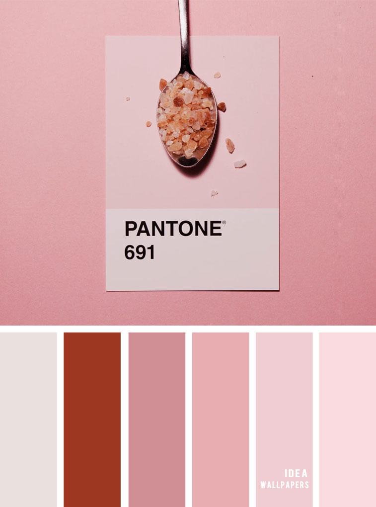 Color Inspiration : Red brick and pink color palette #color #colorpalette #pantone