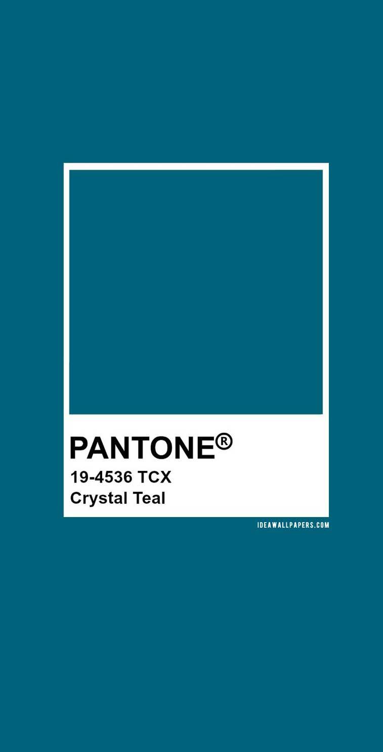 Pantone Crystal Teal : Pantone 19-4536 #color #teal #pantone