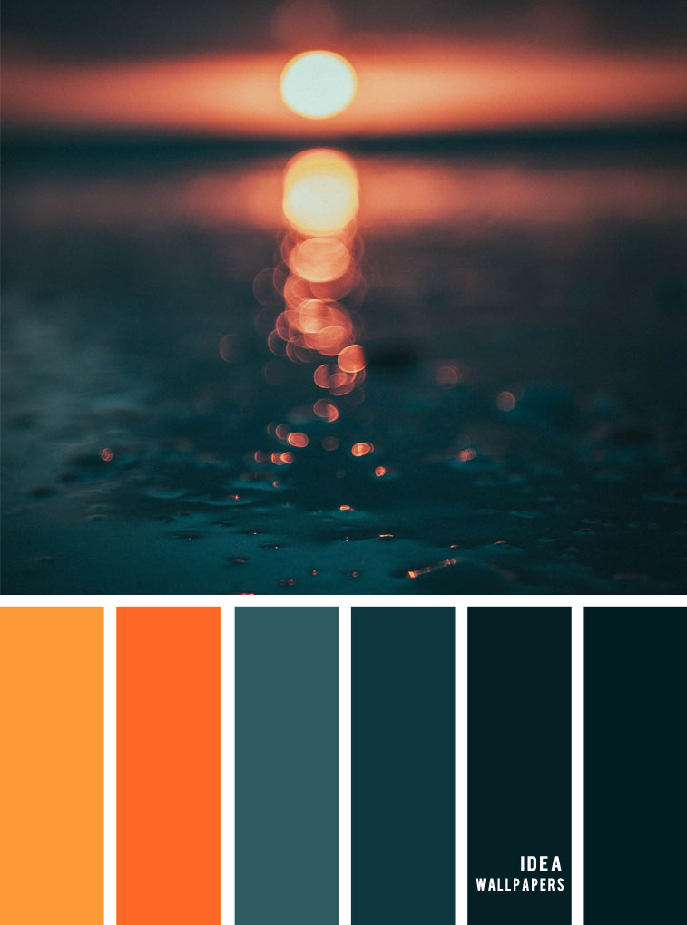 12 Beautiful blue teal color combos { Burnt orange + Dark teal },autumn color palette , blue teal ,deep blue and teal #colors #colour #pantone #color #teal
