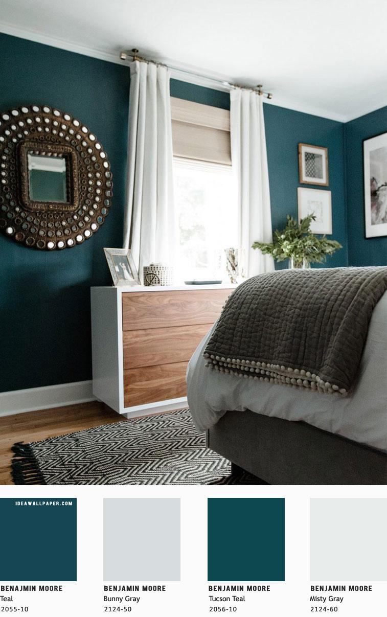 Beautiful Bedroom Color Scheme Teal Grey Benjamin Moore Idea Wallpapers Iphone Schemes