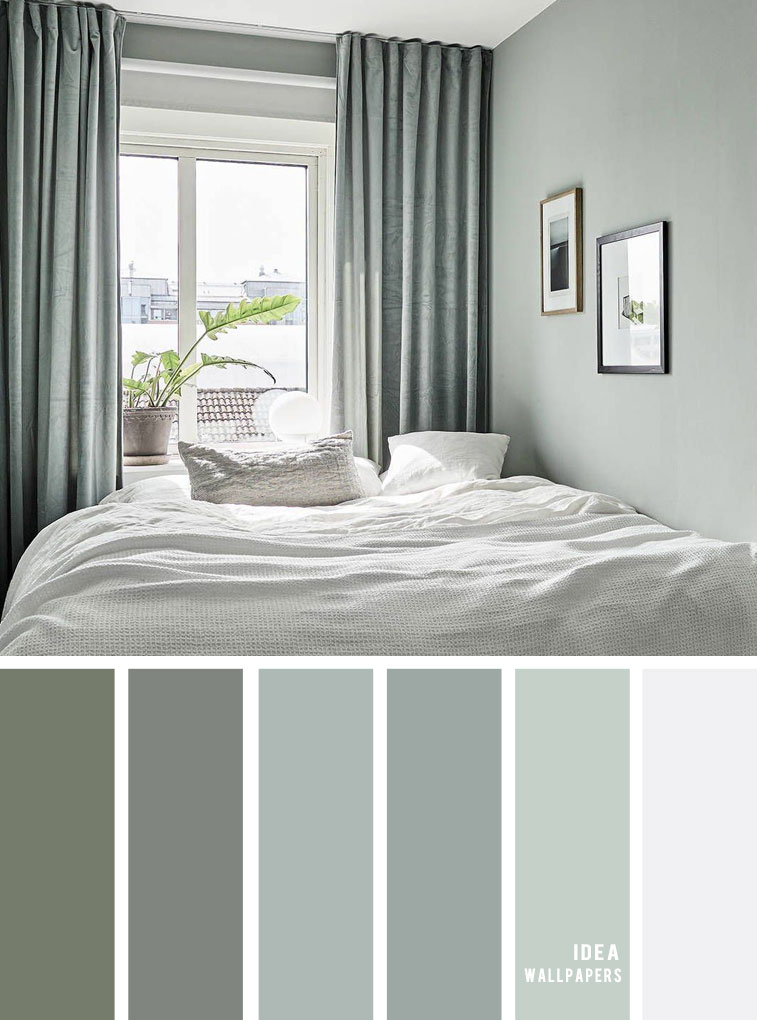 25 Best Color Schemes for Your Bedroom { Sage color for bedroom }, color palette, colour palette #color #colorpalette #bedroom #colorinspiraiton #colors bedroom color ideas, sage, sage color