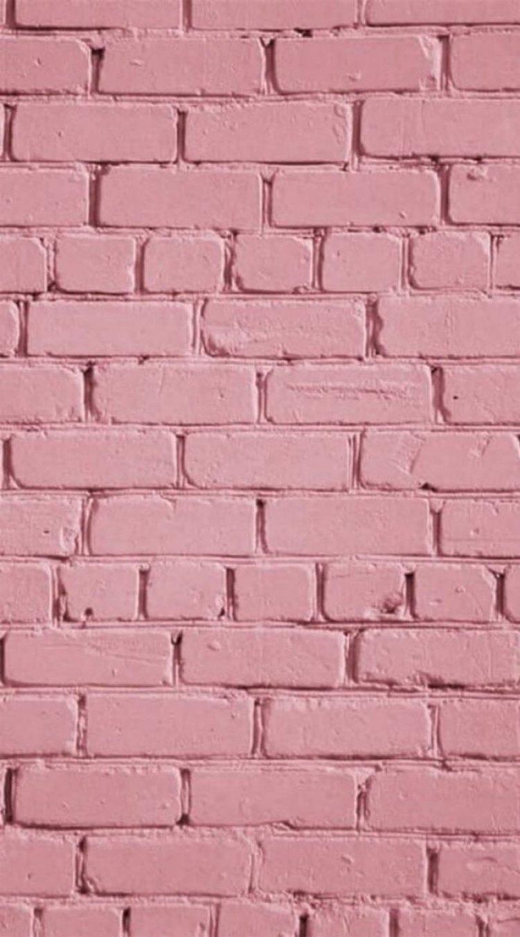 Pink brick wall #iphonewallpaper