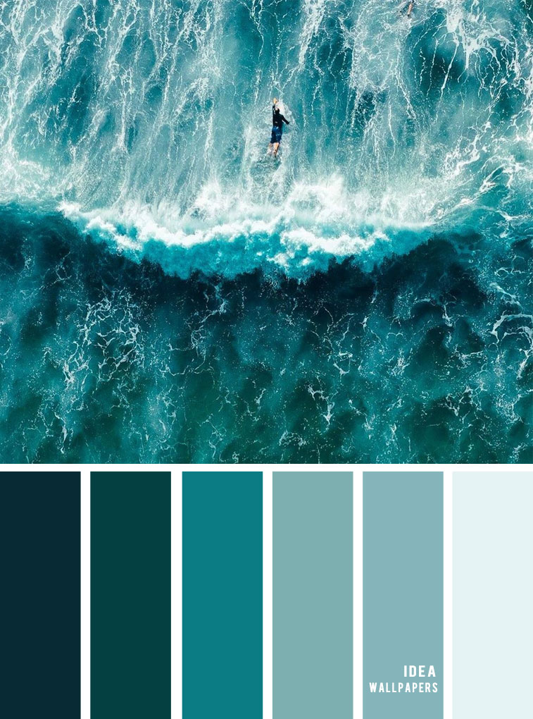 ocean green inspired color palette - shade of ocean deep green color combos, color palette , green colors , green ocean color scheme