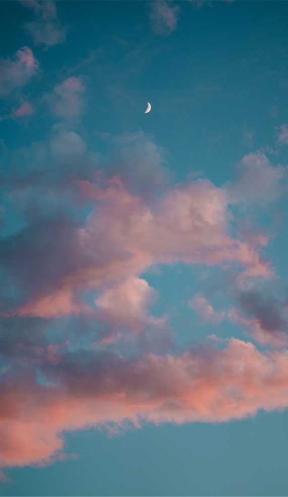 Blue Sky With Peach Effect Cloud Idea Wallpapers Iphone