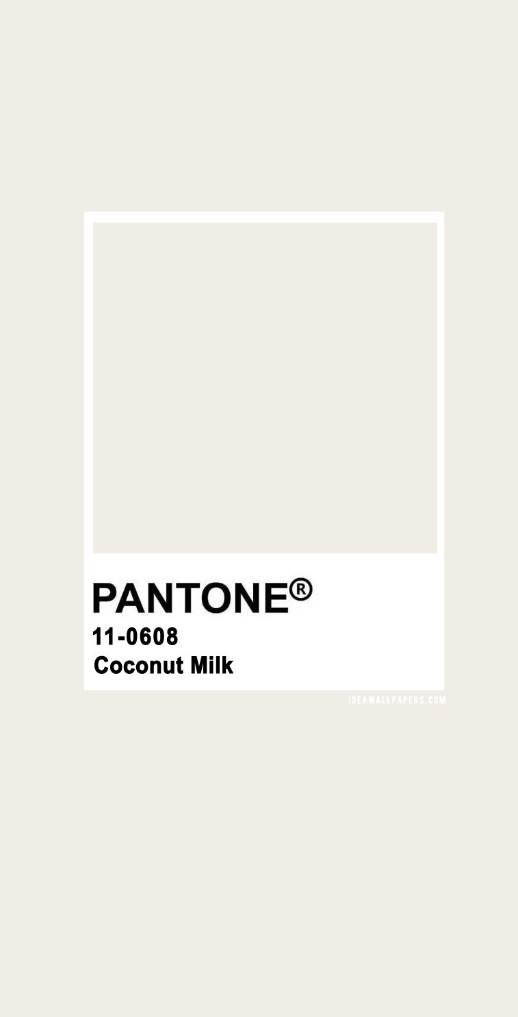 Pantone Coconut Milk : Pantone 11-0608 TCX Coconut Milk, pantone coconut milk, beige #color #pantone pantone 2020, pantone color, pantone color 2020, pantone clothing, pantone palette, pantone paint pantone color of the year, pantone color of the year 2020, pantone colour of the year 2020