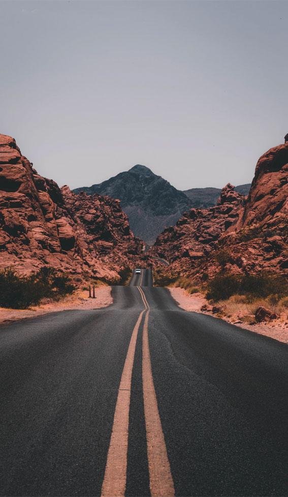 road iphone wallpaper, rock iphone wallpapers, iphone wallpaper, terracotta rocks, road, voyage