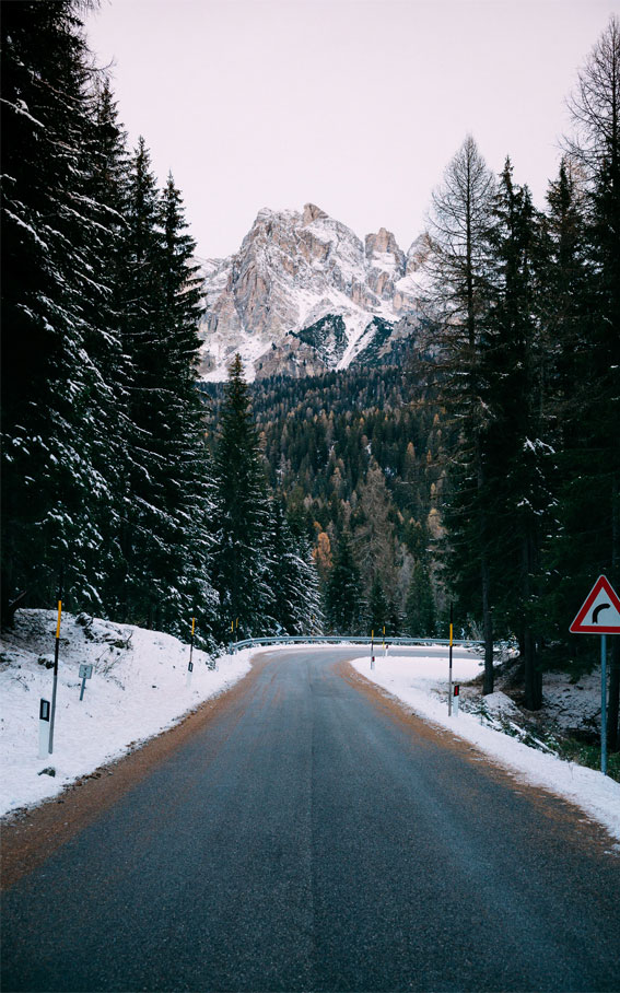 winter road, snow, winter landscape iphone wallpaper, iphone wallpaper winter
