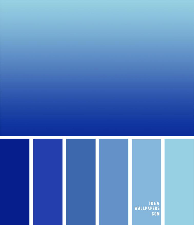 ombre blue color palette, color scheme, royal blue , color combos, color palette of blue, blue color combos, ombre blue