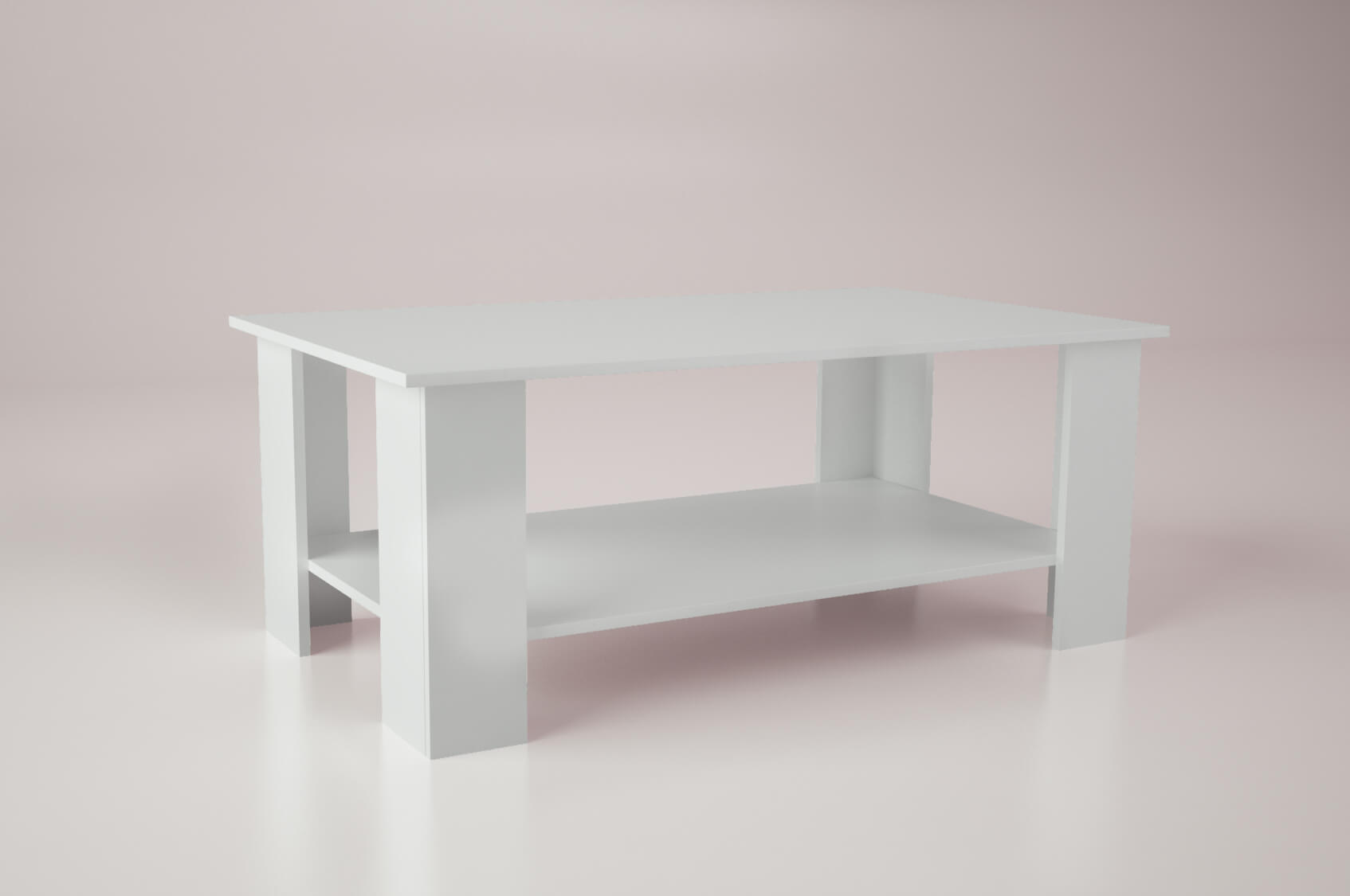 joi large coffee table in white gloss color
