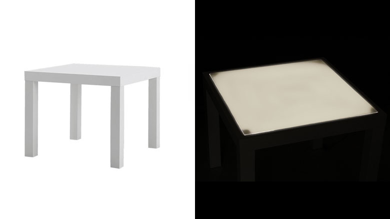 lumineuse pour customiser ma table ikea