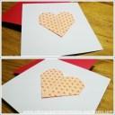 carte avec coeur en origami