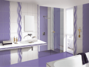Baie glamour alb violet