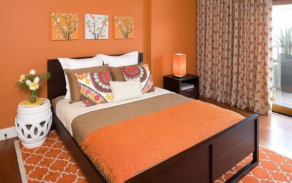 Dormitoare portocalii mari si mici la moda in 2017