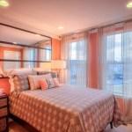 model dormitor aprins portocaliu