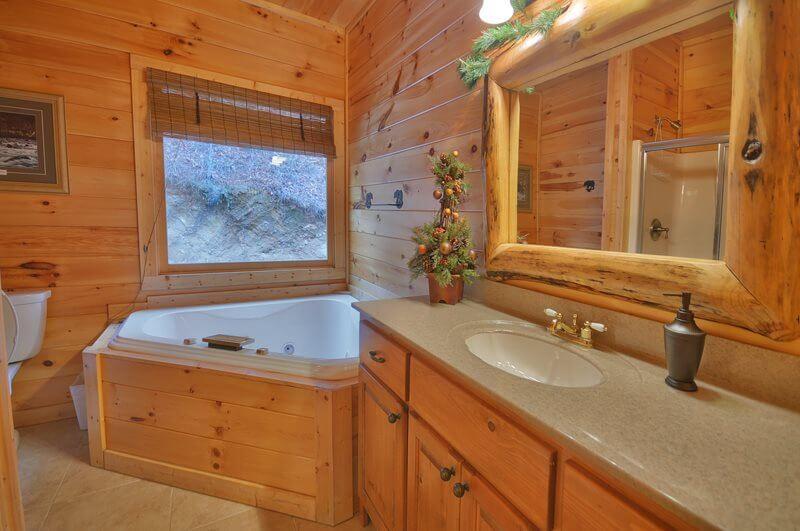 baie casa din lemn
