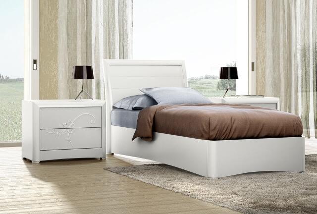 pat mobila alb dormitor