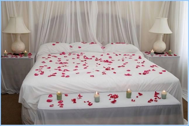 dormitorul romantic alb
