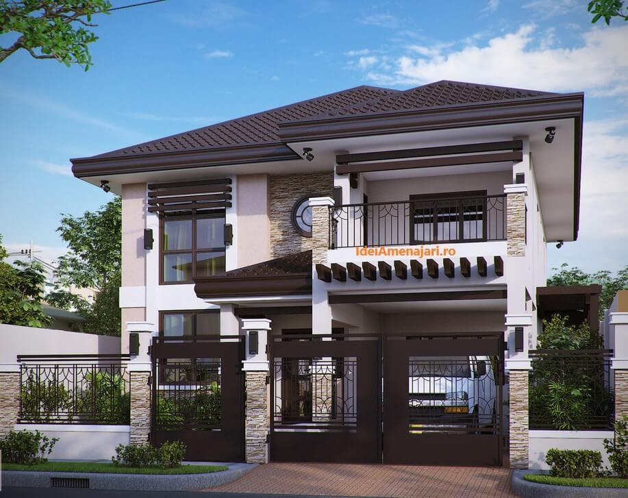 Proiect casa cu etaj urbana