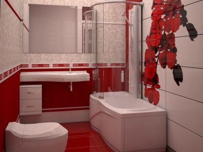 baie faianta model alb rosu