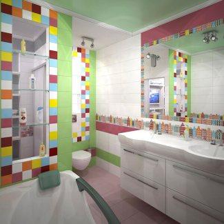 baie pentru copii multicolora