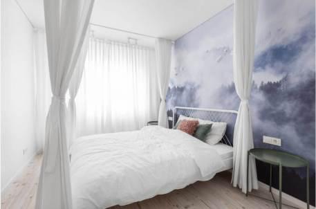 fototapet in dormitor model cu nori