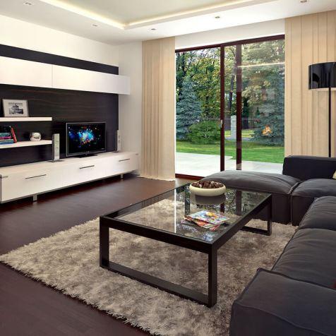 casa mansarda living