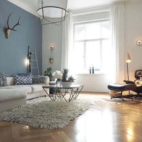 living room albastru