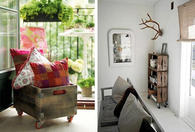 decoracao com caixote