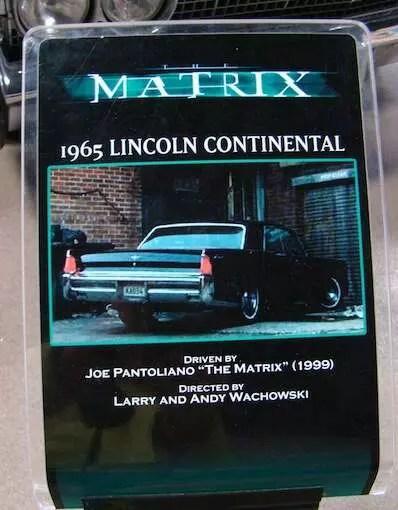 1965 Lincon Continental - Matrix - Museu da Warner