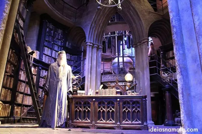 Sala de Dumbledore - Making off Harry Potter