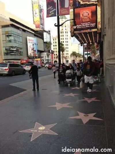 A calçada da fama- Hollywood