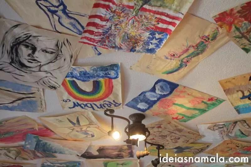 Decoração da vinícola Artiste em Los Olivos