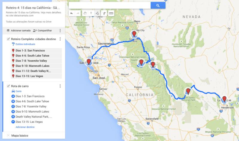 Roteiro 4: 15 dias Parques Nacionais Califórnia