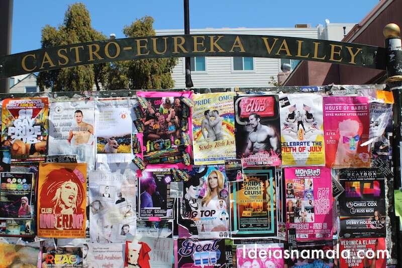 Mural de anúncios do Castro