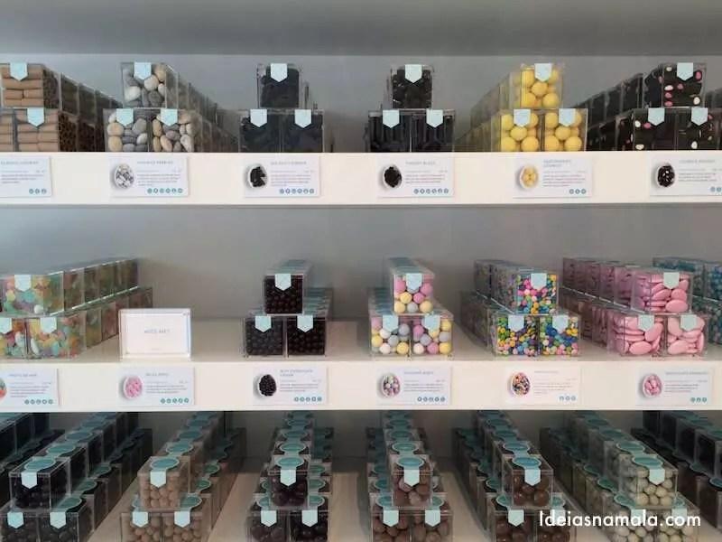 Loja de doces Sugarfina em San Francisco