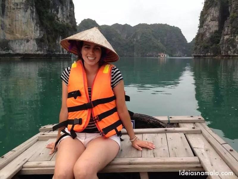 Canoa em Halong Bay - Vietnã