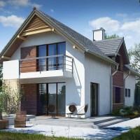 Proiect casa cu mansarda si garaj cu arhitectura moderna