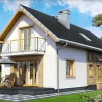 Casa foarte mica cu mansarda perfecta pentru terenuri inguste