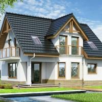 Proiect casa moderna cu mansarda de 110 mp