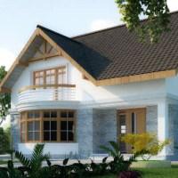 Proiect casa parter+mansarda de 98 mp amprenta la sol