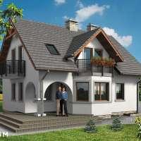 Proiect superb de casa cu mansarda, terasa si pridvor